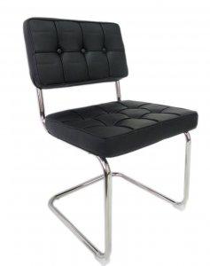 Bauhaus Klassieker Cantilever Freiswinger stoel zwart